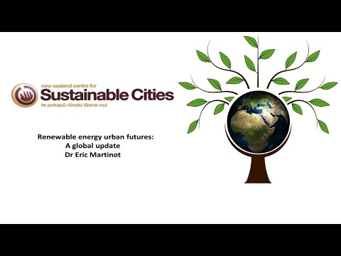 Seminar - Eric Martinot: Renewable Energy Urban Futures: A Global Update