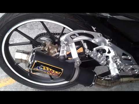 raider 150 transformation ahm pro racing pipe on sniper 150