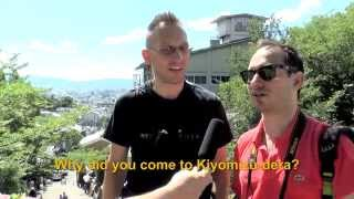 Travelers' Voice of Kyoto: KIYOMIZU DERA Area Interview010
