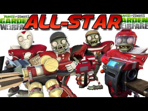 all star - All-Star - Plants Vs. Zombies: Garden Warfare (Cricket Star, Goalie Star, Hockey Star, Rugby Star)