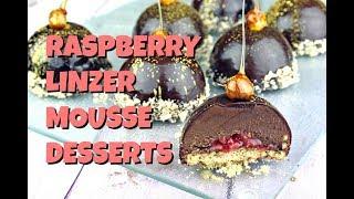 Raspberry Linzer Mousse Desserts || Gretchen's Bakery by Gretchen's Bakery