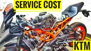 7. SERVICE COST OF KTM RC 390 2018 | AYUSH VLOGS