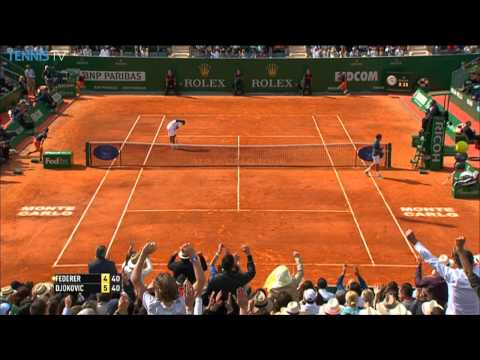 Preview - Roger Federer deftly moves Novak Djokovic around the court in Saturday's Hot Shot from Monte Carlo. Watch live matches on TennisTV.com.