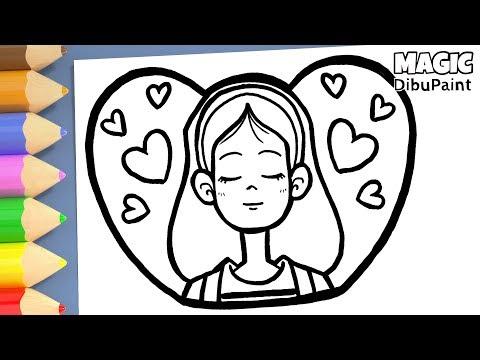 Dibujo para Tu Mejor Amiga  Dibujos de Amor con Corazón