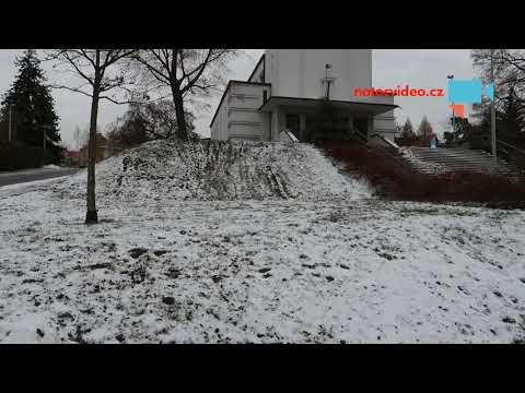 Trocha sněhu v Praze.