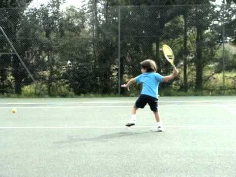 Incredible 4 year old little Tennis Prodigy  /  Feliciano Tennis Channel opening Ad –