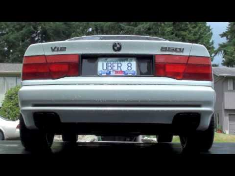 BMW V12 850i Exhaust - No Mufflers - No Resonator