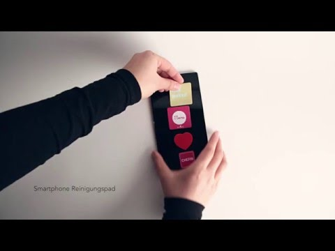 Smartphone Reinigungspad THINK POSITIVE! Video
