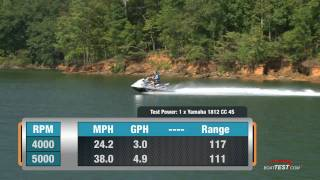 10. Yamaha VXR PWC 2011 Waverunner Peformance Tests / Reviews - By BoatTest.com