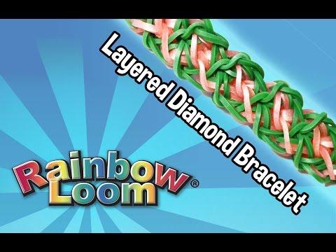 Rainbow Loom® Layered Diamond Bracelet