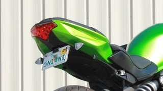 5. How to install Fender Eliminator with LED signals on Kawasaki Ninja 650R by TST Industries