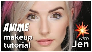 anime makeup tutorial with jen