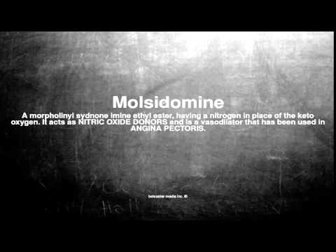 Medical vocabulary: What does Molsidomine mean