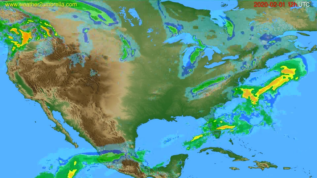 Radar forecast USA & Canada // modelrun: 00h UTC 2020-02-01