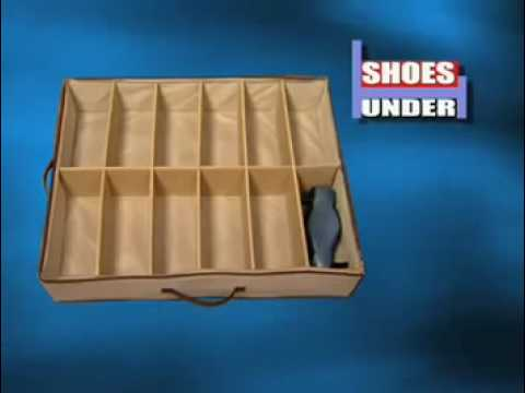 Shoe Organizer Storage Box Holder Under Bed Closet 12 Pairs