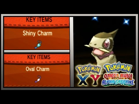 How to get the OVAL CHARM & SHINY CHARM in Pokemon X/Y & Pokemon Omega Ruby and Alpha Sapphire