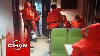 Çanakkale'de korku dolu anlar, yolcular 14 saat sonra kurtarıldı