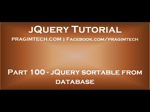 jQuery sortable from database