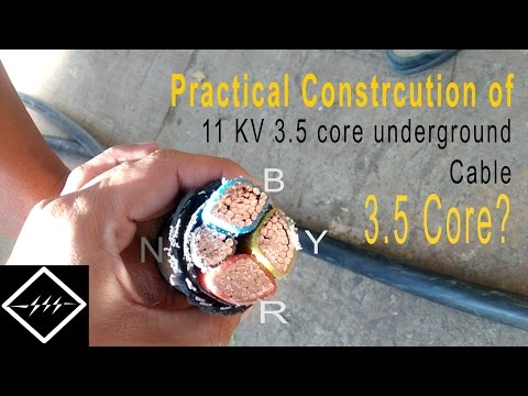 Practical construction of a 11KV underground cable | 3.5 core cable | HD