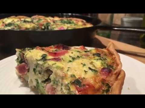 Cast Iron Ham And Cheese Broccoli Quiche - Cast Iron Skillet Cooking