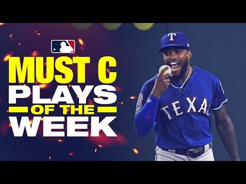 Video: Rangers Delino Deshields climbs the wall!! | Must C Plays of the Week (8/22 to 8/29)