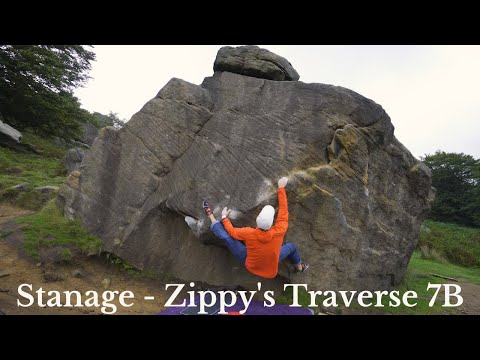 Stanage Plantation - Zippys Traverse 7B