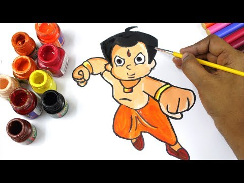Free Download Chhota Bheem Coloring Page