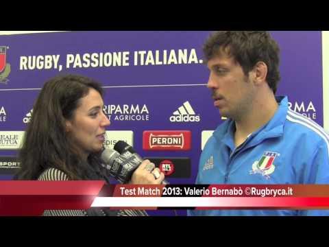 Valerio Bernabò prima di Italia-Argentina