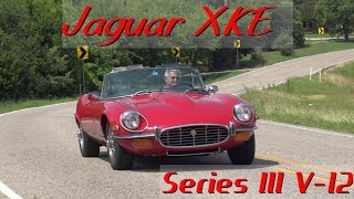 Ultra High Definition 4K look at Jaguar's XKE Series III V12 convertible. This 1972 model XKE OTS has spent most of its 45 year life here in Texas. This car recently had $46,000 spent on the cosmetics and mechanicals. This #'s matching V12 is privately owned & currently for sale. Sam 972-748-6389. Take a road test and tour with us. Follow me on Facebook for more classic cars https://www.facebook.com/samspace81/
