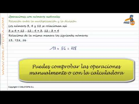 Vídeos Educativos.,Vídeos:Relación multiplicar / dividir 2