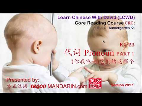 Learn Chinese Pronoun Like Kids -CRC K1-23 代词 You, I He, She, It, This, That 你我他她 它们的这那个