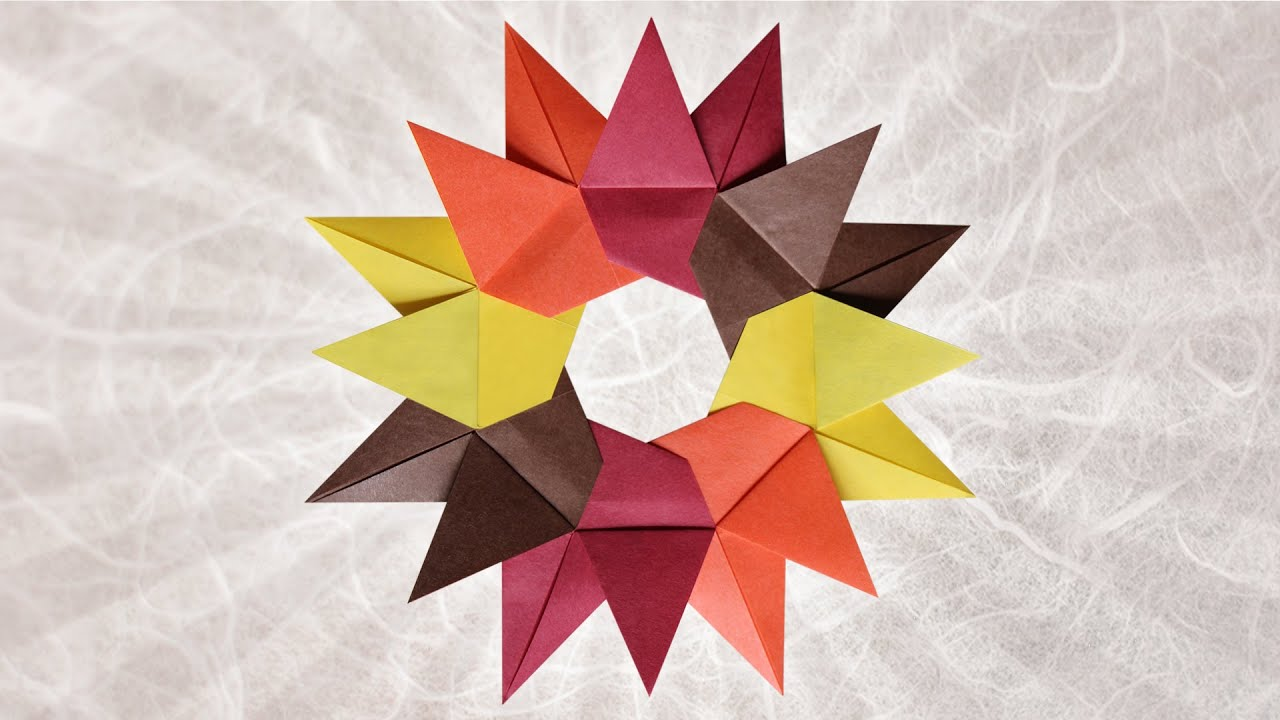 Origami Star from 8 Bird Bases (Christiane Bettens)