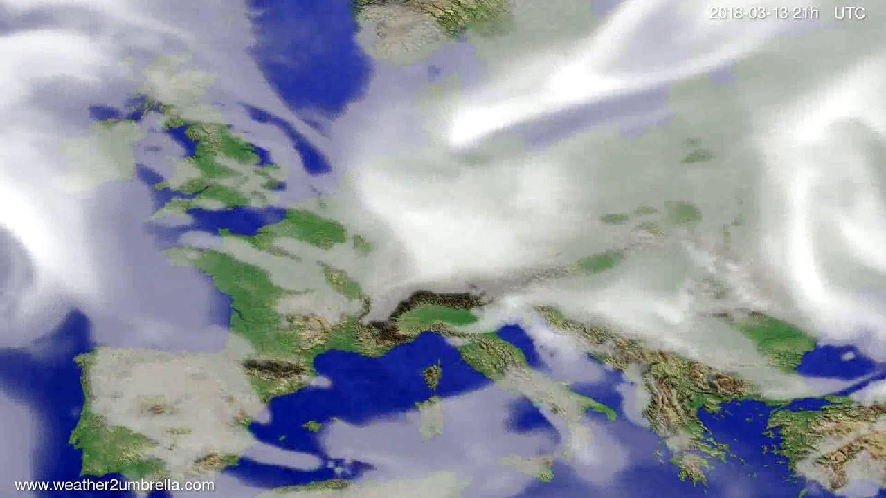 Cloud forecast Europe 2018-03-10