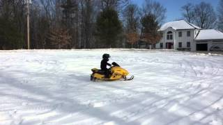 5. Connor riding his Skidoo Mini Z 120 snowmobile @ 5 yrs old - 1.3.2016