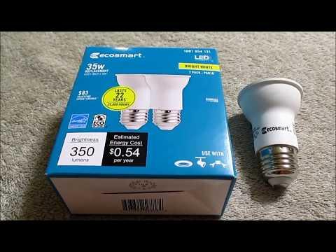 Ecosmart PAR 16 LED lightbulb review