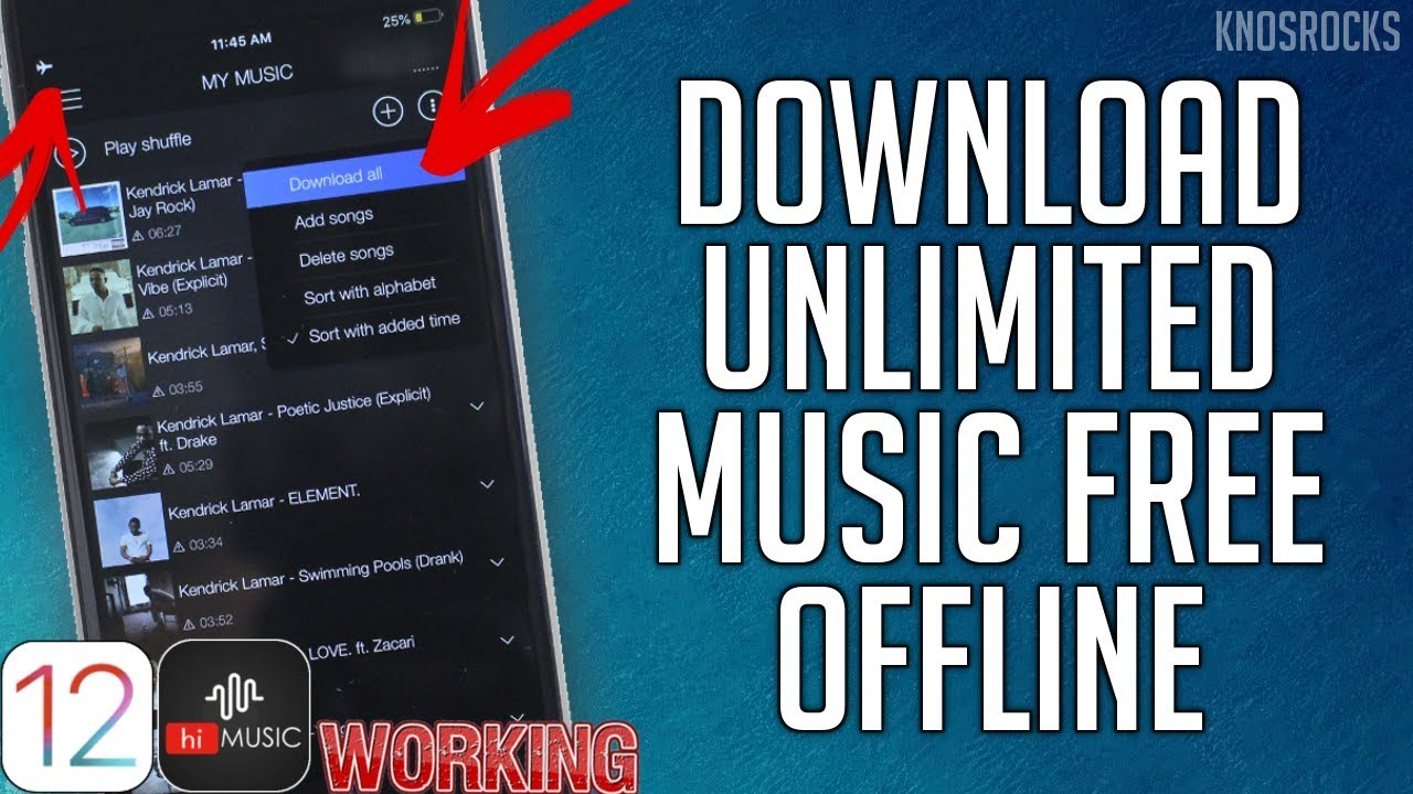 NEW 2019 Download hiMusic FREE Offline iOS 12 – 12.2 / 11 / 10 Unlimited No Jailbreak / PC iPhone iPad