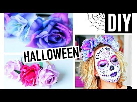DIY Halloween Facile (français) : Couronne de fleurs Sugar Skull