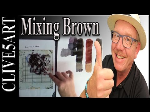 Color Mixing: Mixing brown from from the primary colors