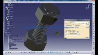 Catia V5 Tutorial Mechanical Components DMU Kinematics Nut and Bolt Simulation Part 2