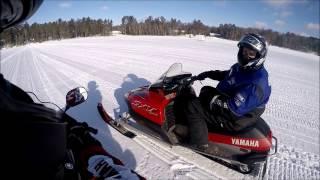 9. Snowmobiling in Tomahawk, WI, 2017 - '02 Yamaha SX Viper and '12 Yamaha RS Vector