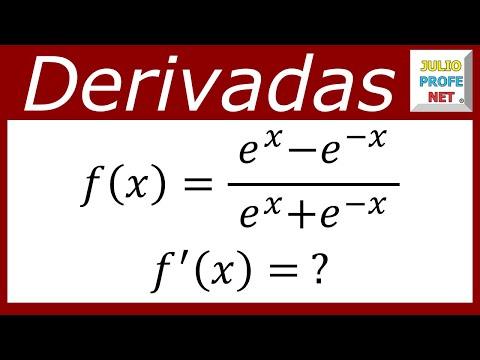 Derivada de una función que contiene el número de Euler
