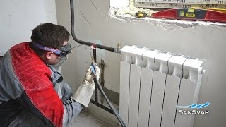 Как заменить радиатор отопления с газосваркой