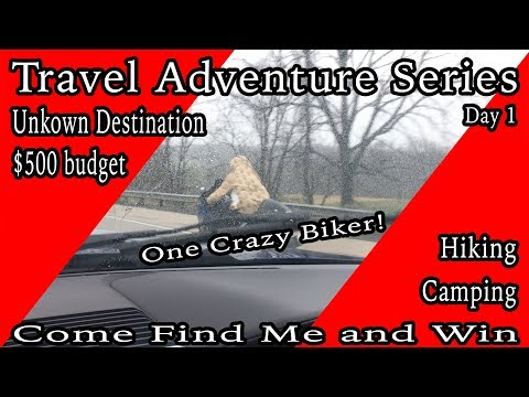 Vlog Travel Adventure Series Day 1 crazy biker and tornadoes.