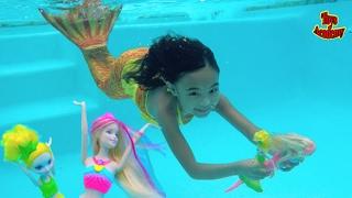 Barbie Rainbow Lights Mermaid Barbie Dreamtopia Bubbles N Fun ...