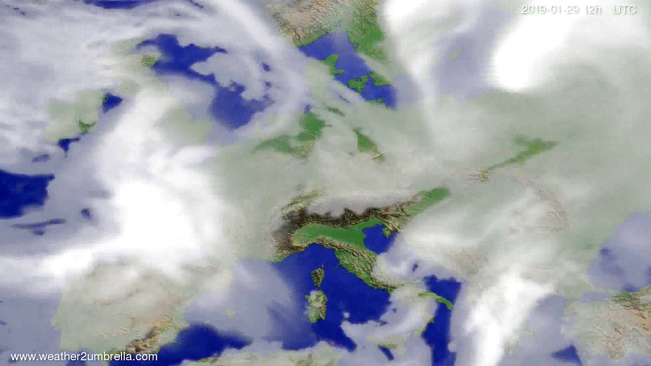 Cloud forecast Europe 2019-01-27