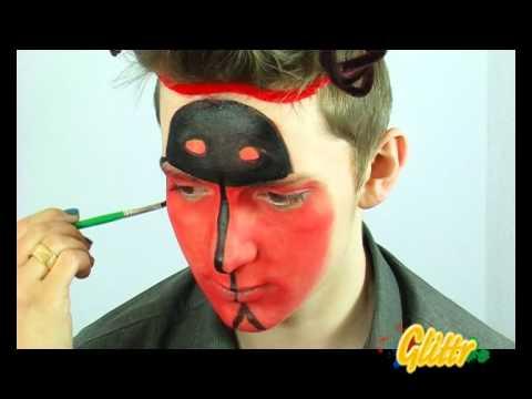 Kinderschminken: Marienkäfer schminken