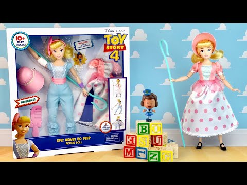 Toy Story 4: Epic Moves BO PEEP Action doll by Mattel (3 Looks) Review & Unboxing
