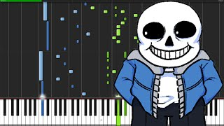 Song That Might Play When You Fight Sans - Undertale [Piano Tutorial]