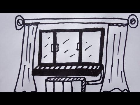 Como dibujar una ventana Как нарисовать милые рисунки видео