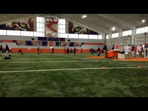 Clemson Football 40-Yard Dashes at Pro Day